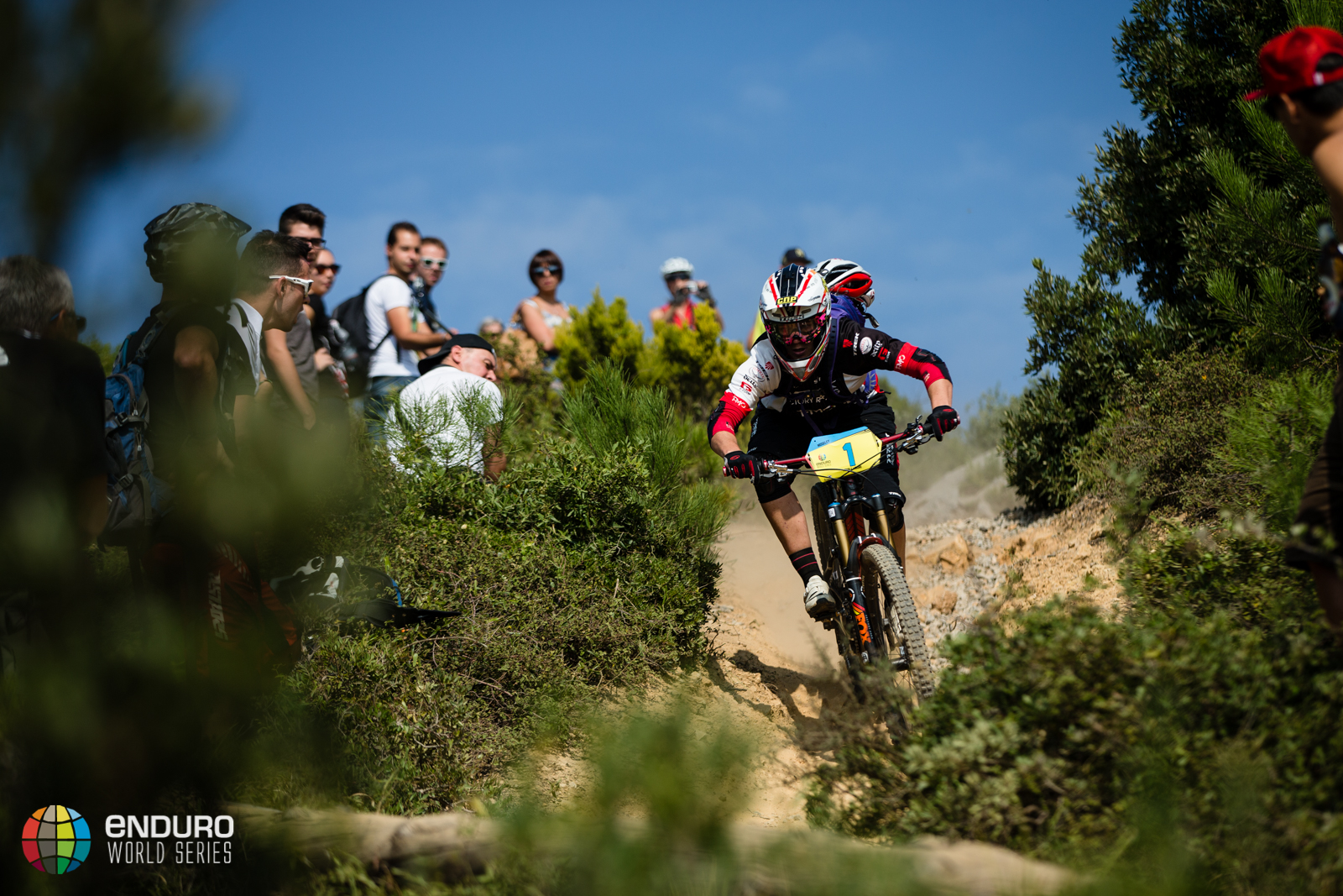 Tracy Moseley on stage four. EWS 7 2014, Finale Ligure. Photo by Matt Wragg