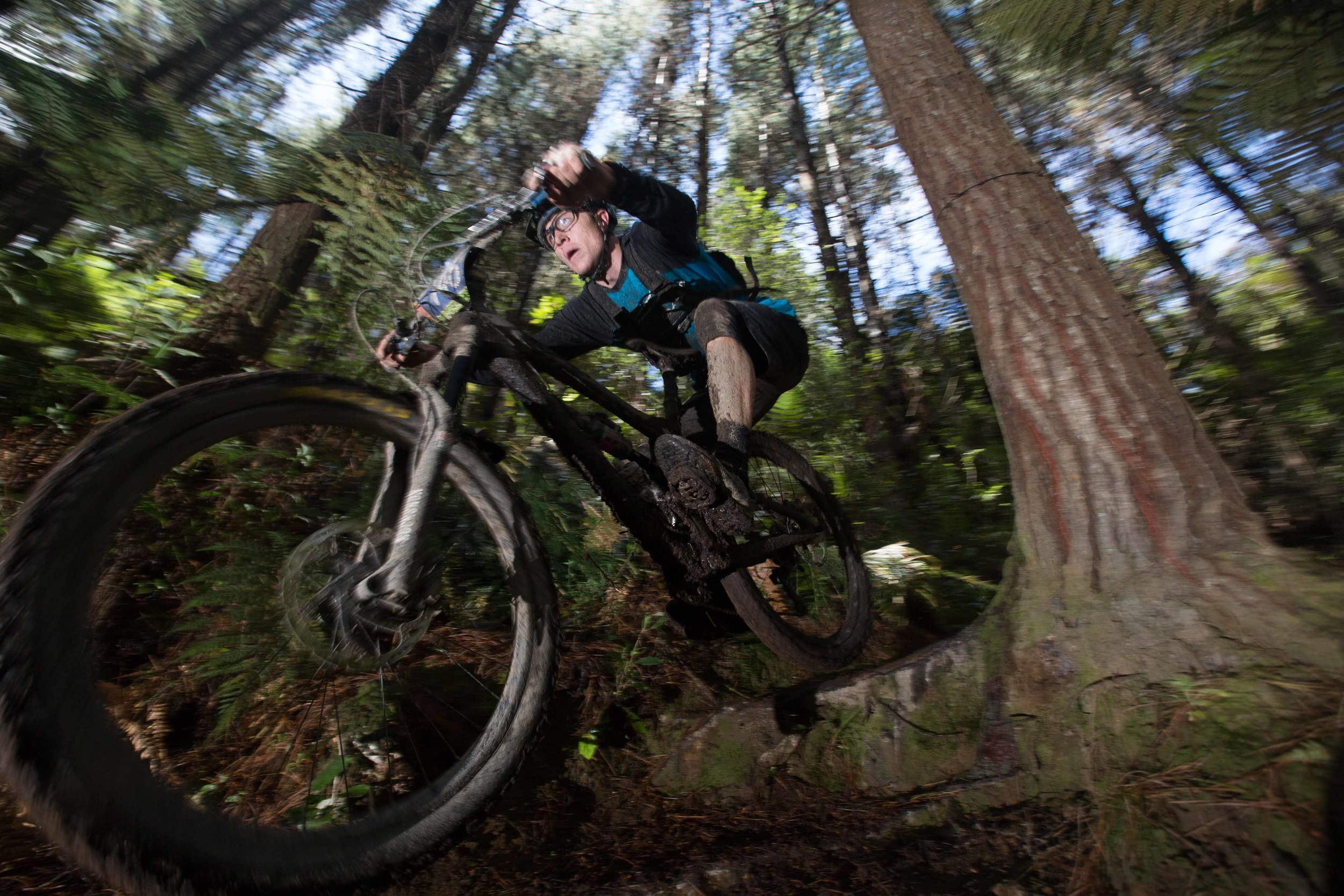 Rotorua's Ben Robson heads down the exit trail in yesterday's Giant 2W Gravity Enduro. Photo by Jamie Troughton Dscribe Media Services