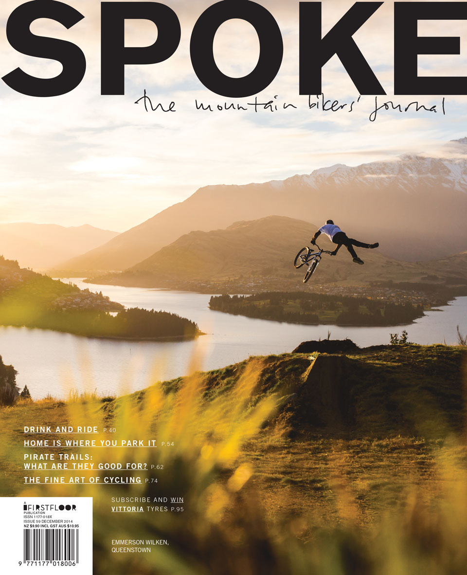 Spoke 59 cover mountain bike new zealand emmerson wilken stefan haworth queenstown jump