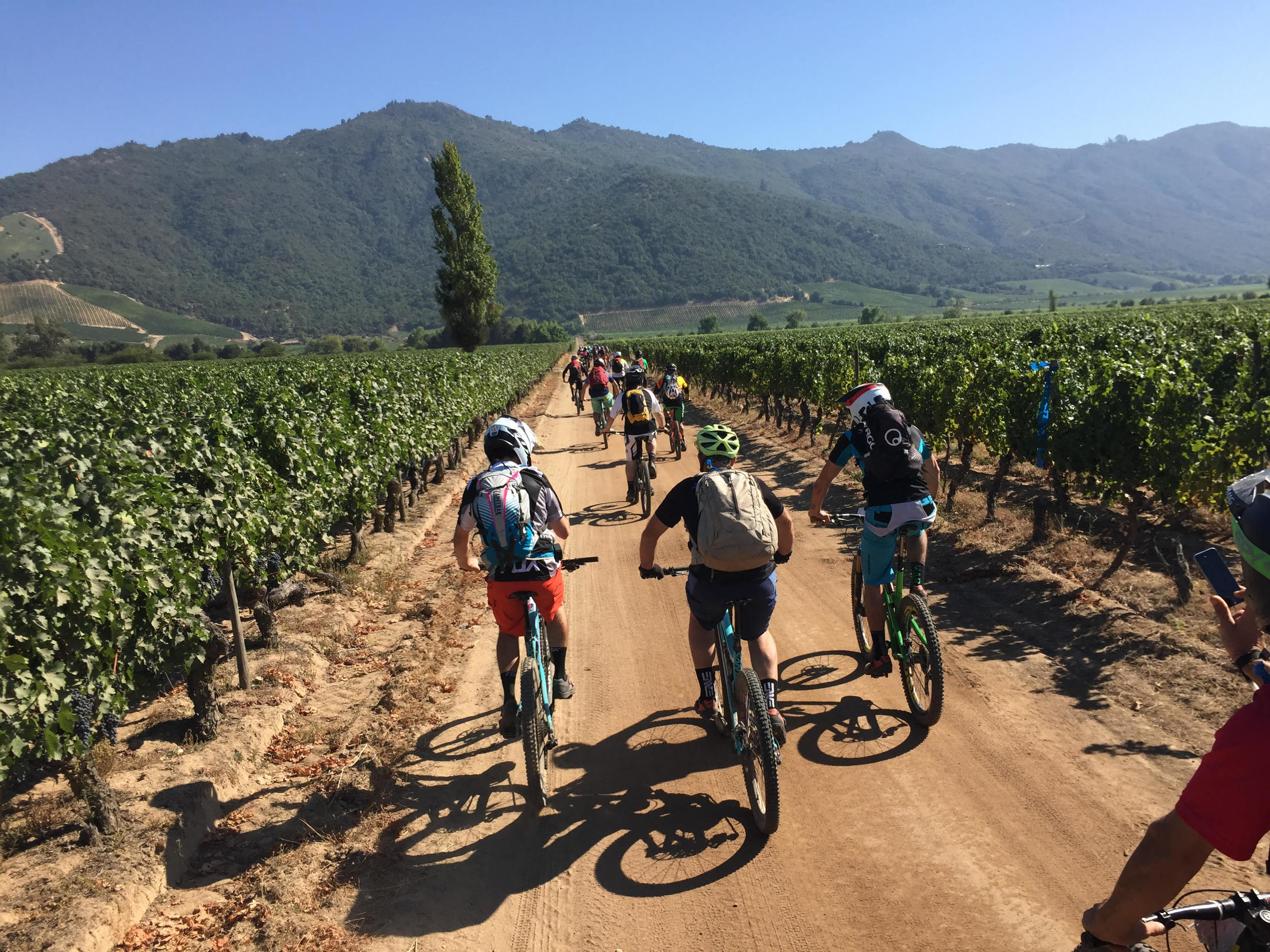 Day 3 was situated in Santa Cruz in the Colchagua valley wine region. Riders set off from camp to the top of the mountain ahead for the first stage of the day.