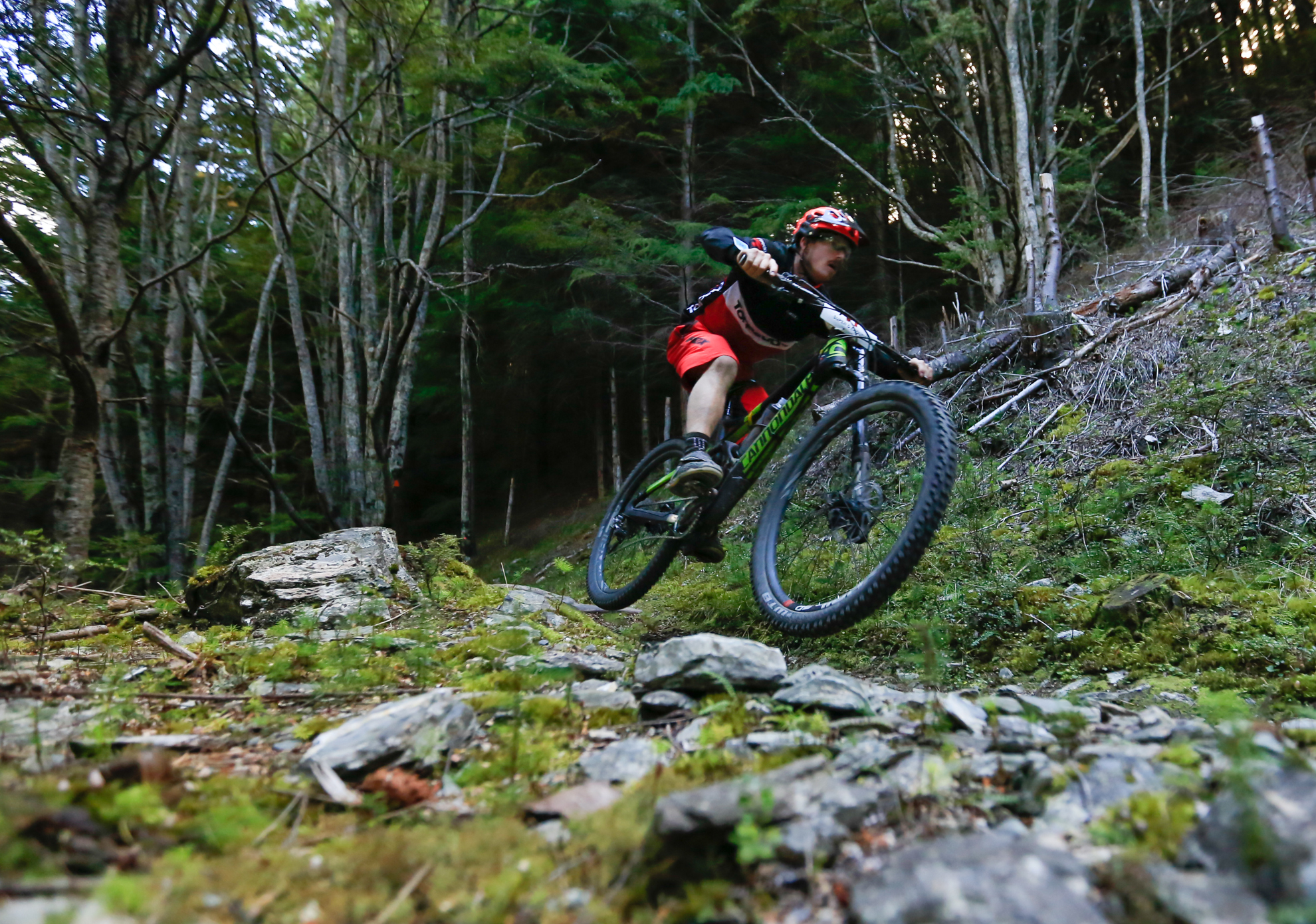Jimmy Pollard from Queenstown, winner of the Vertigo Bikes Super D Enduro 2015. Photo riverleaphotography.com