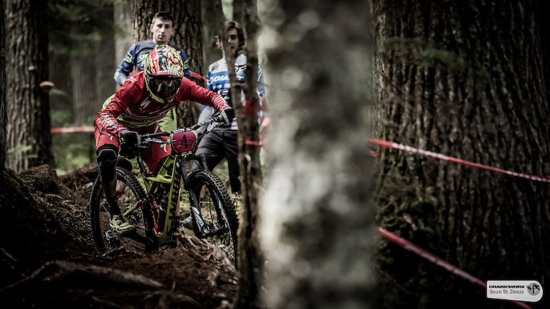 Annke Beertan on the first stage of the SRAM  Canadian Open Enduro Presented by Specialized. In Whistler, British Columbia (Sean St.Denis)