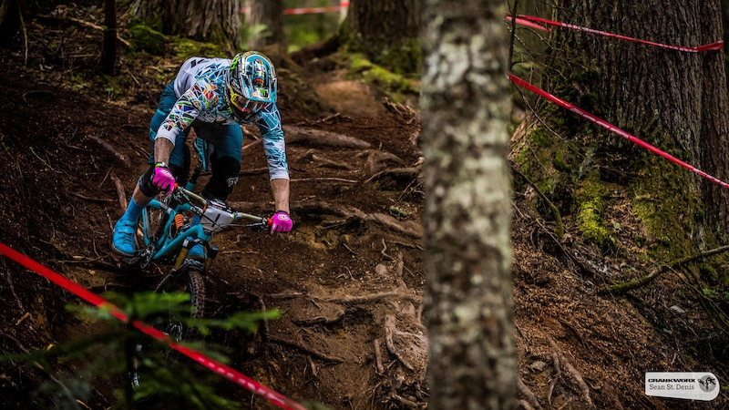 Jared Graves on the first stage of the  SRAM  Canadian Open Enduro Presented by Specialized. In Whistler, British Columbia (Sean St.Denis)