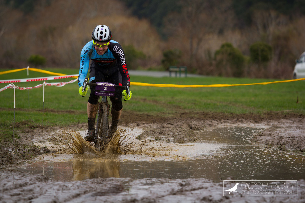Brendon Sharratt ploughing the bog to victory.
