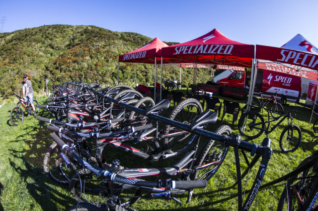 Many of those demo-ing the Specialized fleet were keen to try out the 6Fattie.