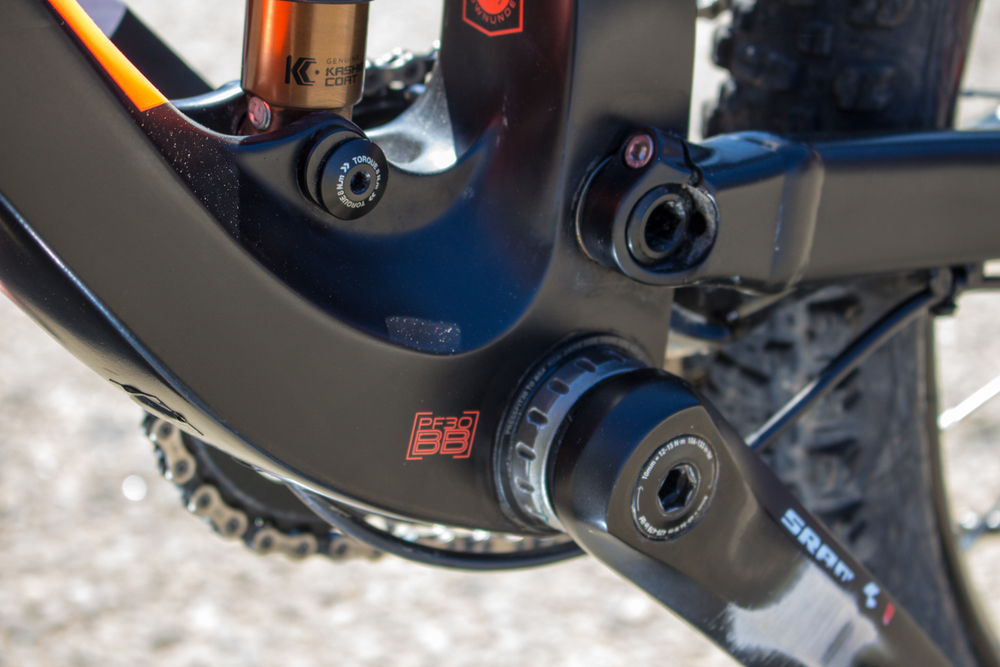 SRAM X1 11 speed cranks and drive train (hidden behind there somewhere)