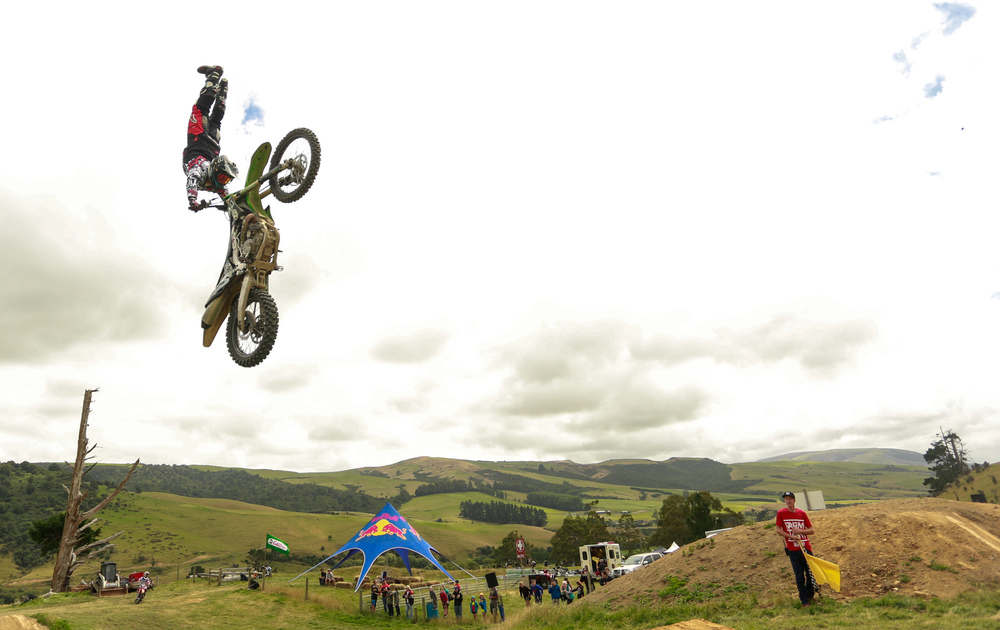 FMX riders flew high up above the Otapiri Gorge.