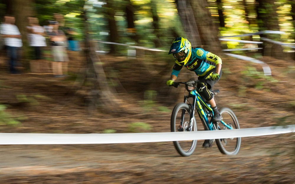 GT Factory team rider Anneke Beerten held off the Kiwi girls to take the win -  Image: Bejon Haskell
