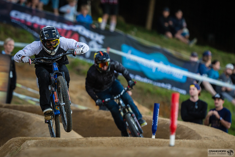 Adrien Loron during the Mons Royale Dual Speed and Style at Crankworx in Rotorua, New Zealand. Photo - Clint Trahan