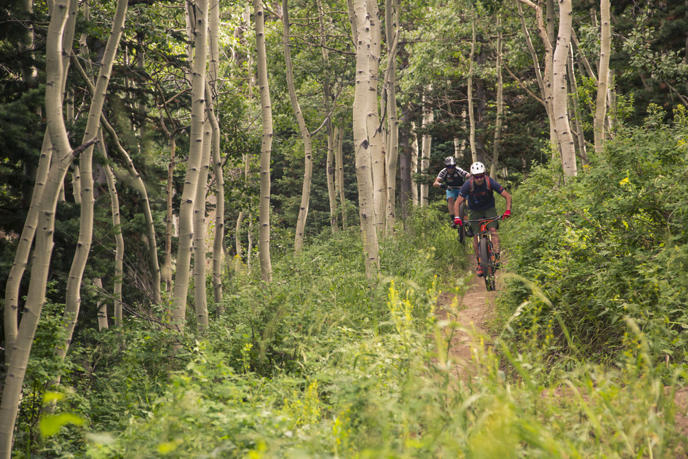 Mick and Sean getting amongst Deer Valley's incredible trail network