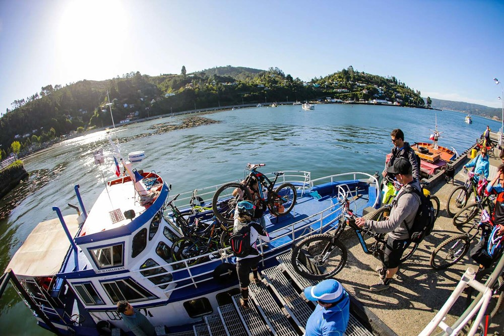 Loading up the ferry. Photo: Lapierre- Jeremie Reuiller