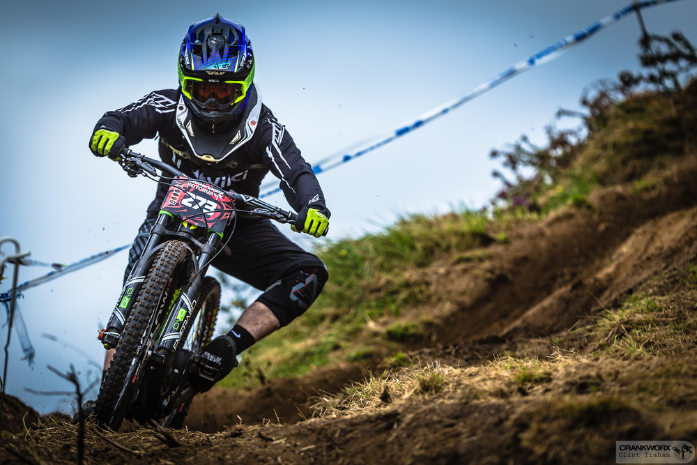 Brandon Ross during the Crankworx Rotorua Downhill presented by iXS at Crankworx Rotorua in 2016