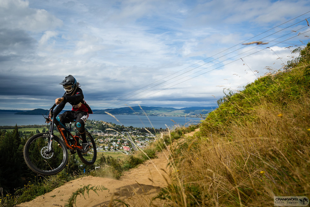 "The Crankworx Rotorua Air DH is a fast rip with lots of ""air"" in Skyline Gravity Park"