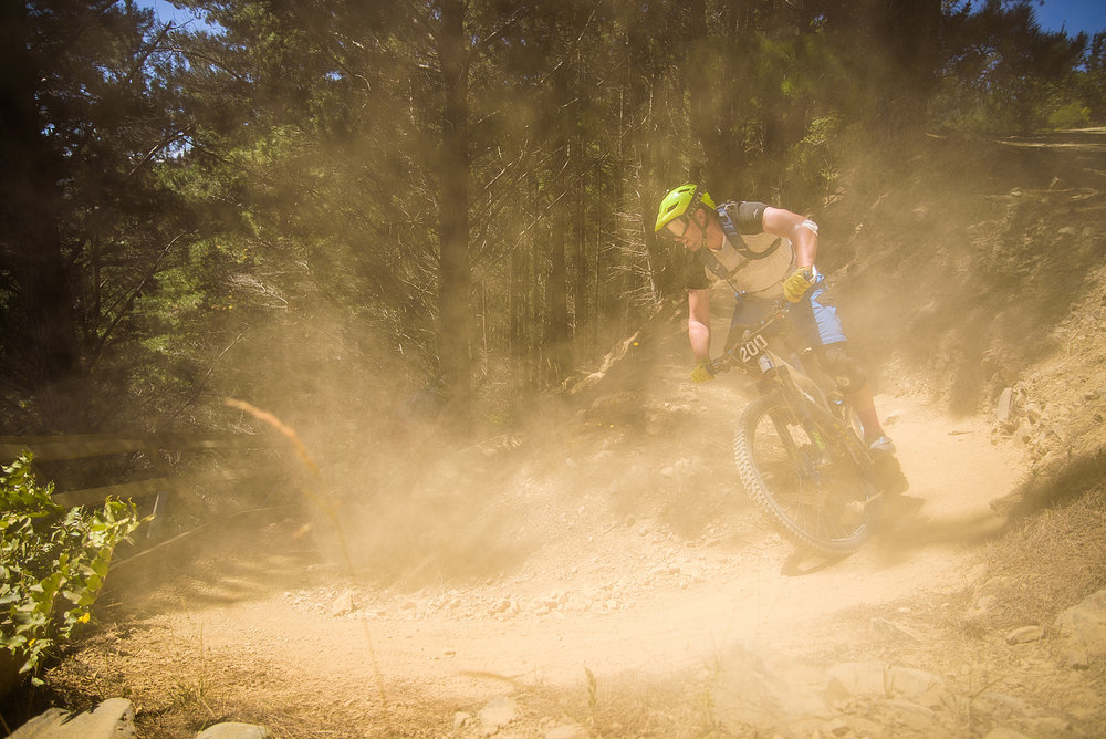 Dusty trails, you were well aware you were catching another rider. Image: Digby Shaw