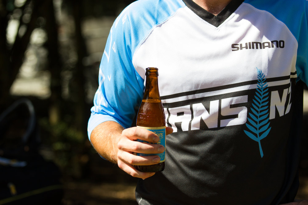 "Race crew jersey's so you know where to aim all those urgent questions ""Where's the beer?"""