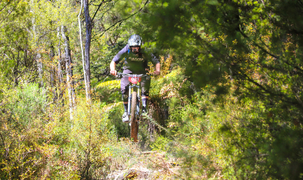 Racers in the Mammoth Enduro show us just how to negotiate those roots!