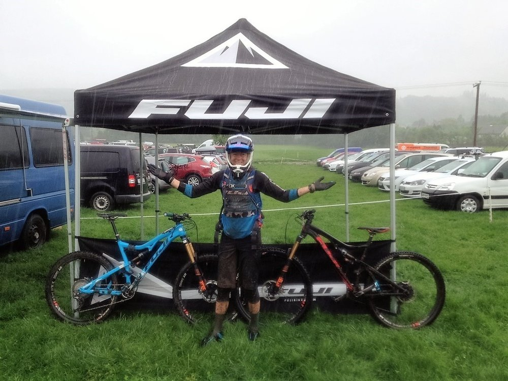 Raining at EWS- now nicknamed Enduro Wet Series!