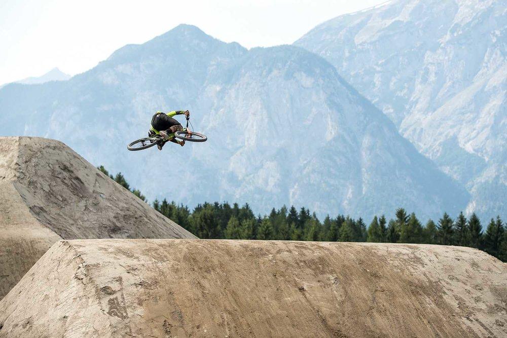 Matt Walker adding some freestyle to his silky BMX skills