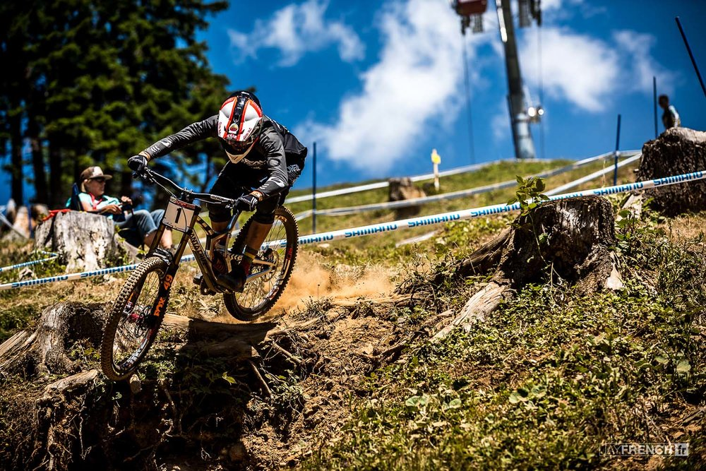 G.O.A.T Minaar was at it again in Lenzerheide albeit with a little help form Gwin's tyre