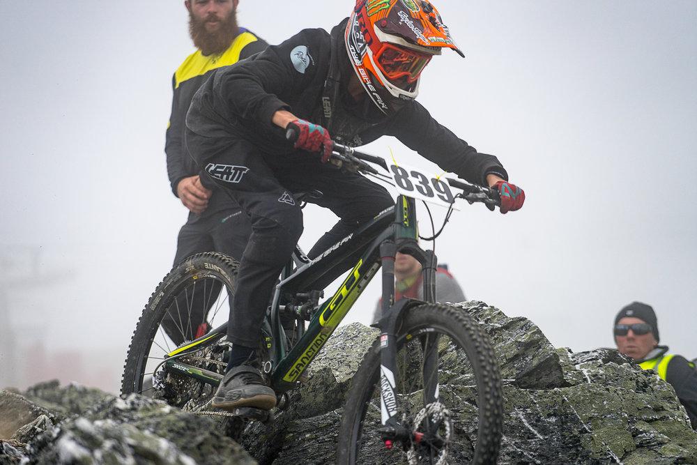 Alex Barke on the trail bike