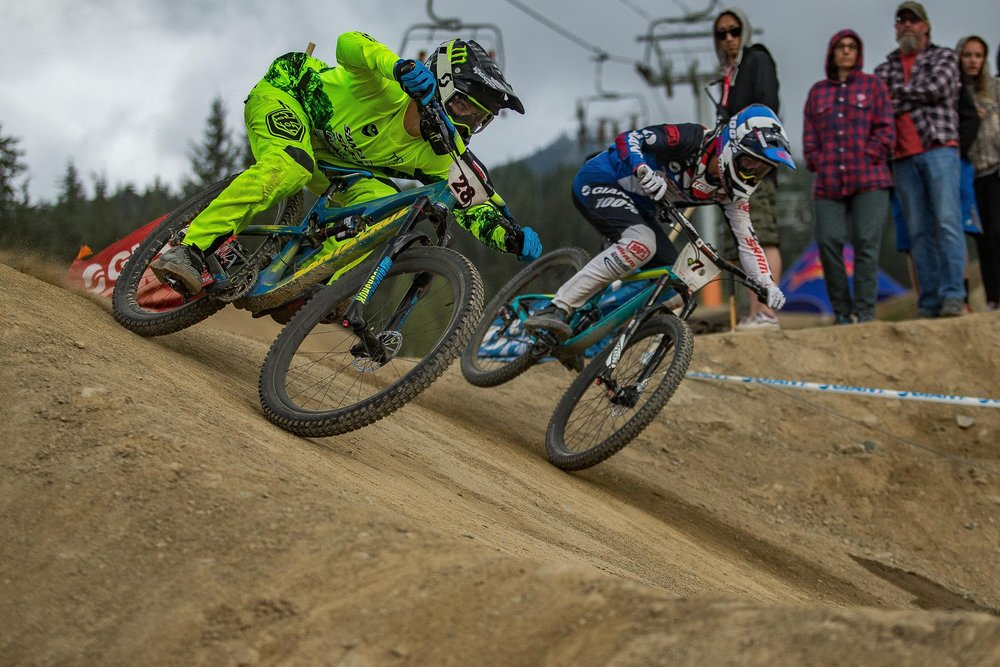 Mitch Ropelato competes in the Crankworx Whistler Dual Slalom - an example of what the event looks like. Photo: Fraser Britton