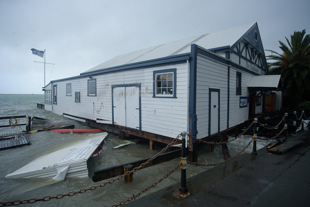 The Wairoa avoided the worst of the damage that thrashed the Boathouse in nearby Nelson. Photo: Digby Shaw.