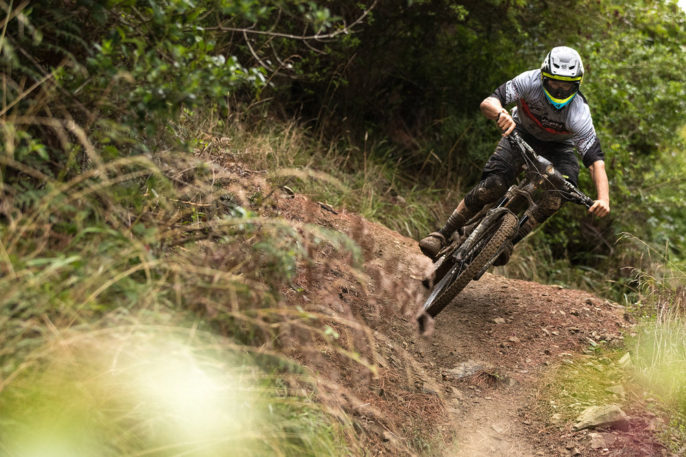 Blenkinsop had to be the favourite going into the event, and looked fast everywhere up the hill. Photo: Odin Woods.