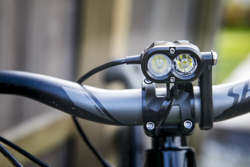 The X2 head unit mounted on the handlebars