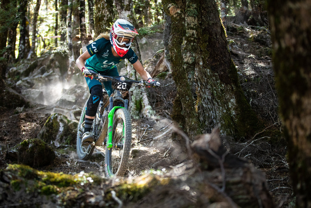 Raewyn Morrison had a good gap over the rest of the women's field. Photo: Matt Wood.
