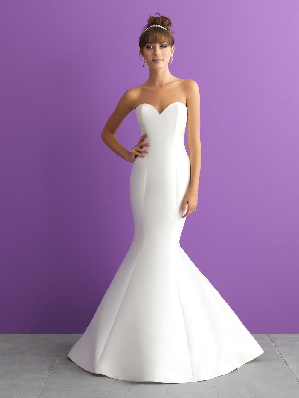 Style 3000 - This strapless, classic gown is elevated by a chic detachable train.