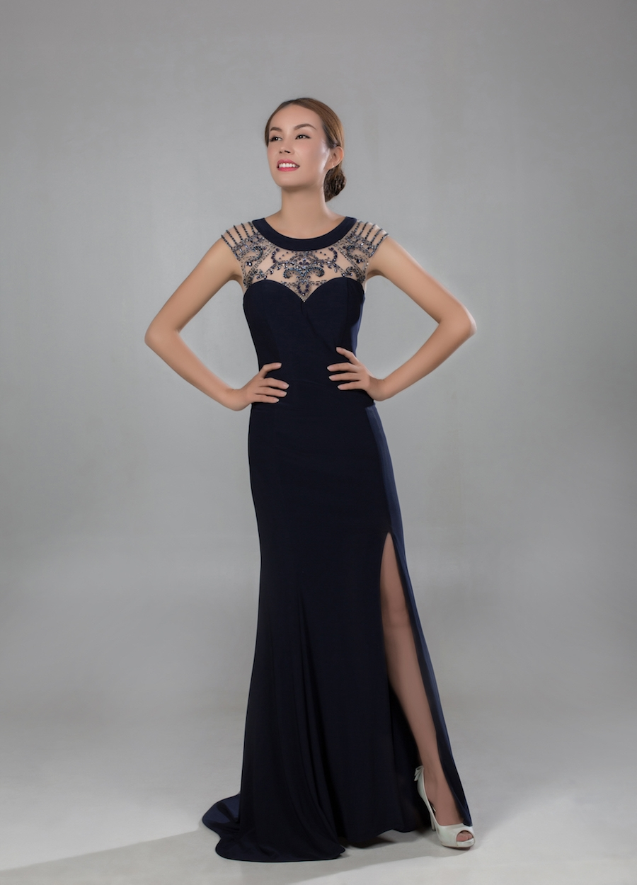 Style PR1805 - Fabric: Jersey & Beaded Nettings