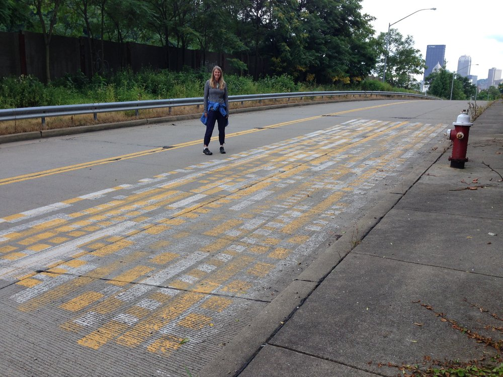 DPW Street Painting Tests or Public Art?