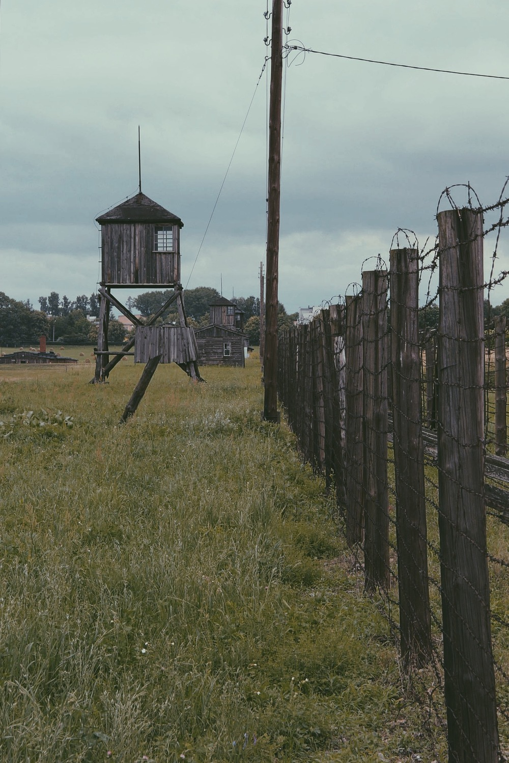 The outer perimeter of Majdanek concentration camp, 2013