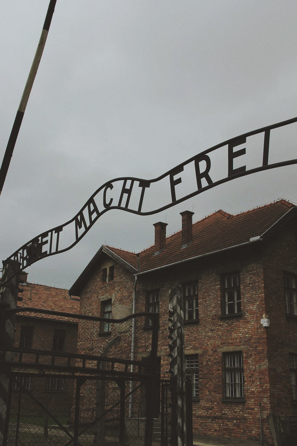 """Arcbeit Macht Frei"" (Works Makes You Free) gates at the entrance to Auschwitz, 2013"