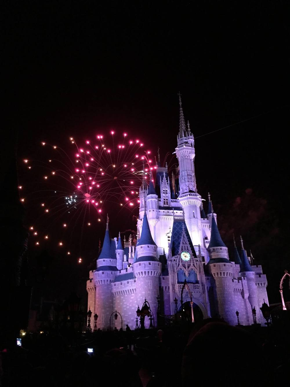 Fireworks at Cinderella's Castle, Magic Kingdom
