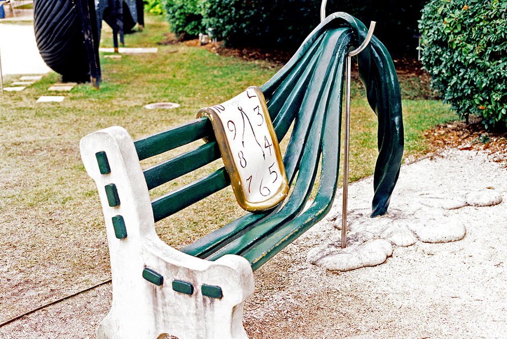 A bench at the Dalí Museum, St. Petersburg