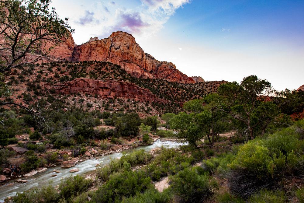 The Virgin River flows through Canyon Junction
