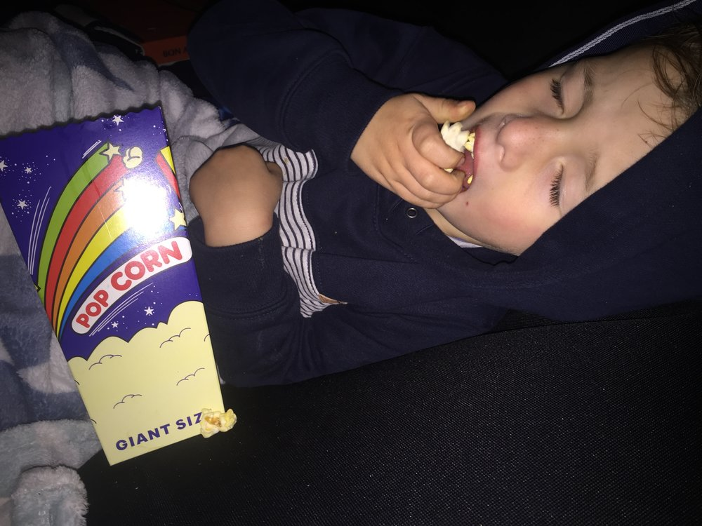 Our little popcorn monster had a great time!