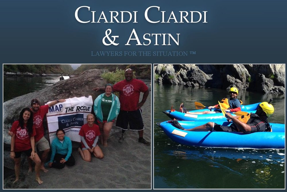 "Ciardi Ciardi & Astin would like to congratulate the 2016 MAP the Rogue Team, especially USAF veteran Sean Johnson, recipient of Ciardi Ciardi & Astin's ""MAP the Rogue Trip Scholarship""."