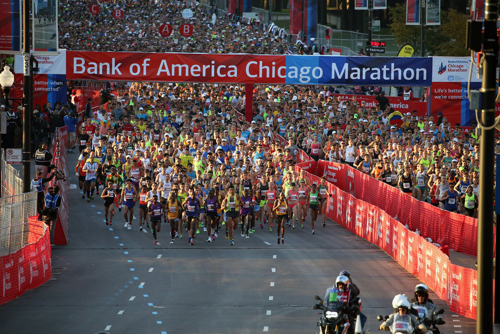 CHICAGO MARATHON - Includes: Race Entry, 4 Nights Accommodation, 8 Months of Training, Recovery Facilities.