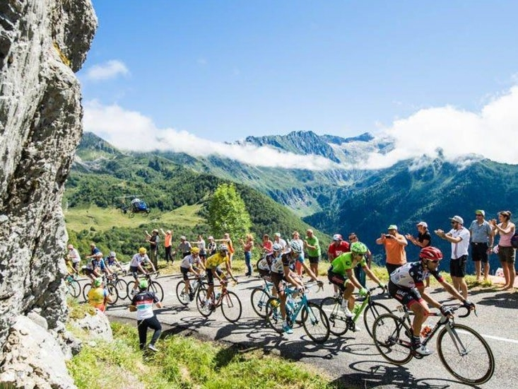 tour de france - Follow in the footsteps of famous riders around Alpe D'Huez, Mont Ventoux and Col du Galibier. A 16 day trip cycling through the French Alps and Pyrenees, culminating in a ride down the cobblestones of Champs Elysees.
