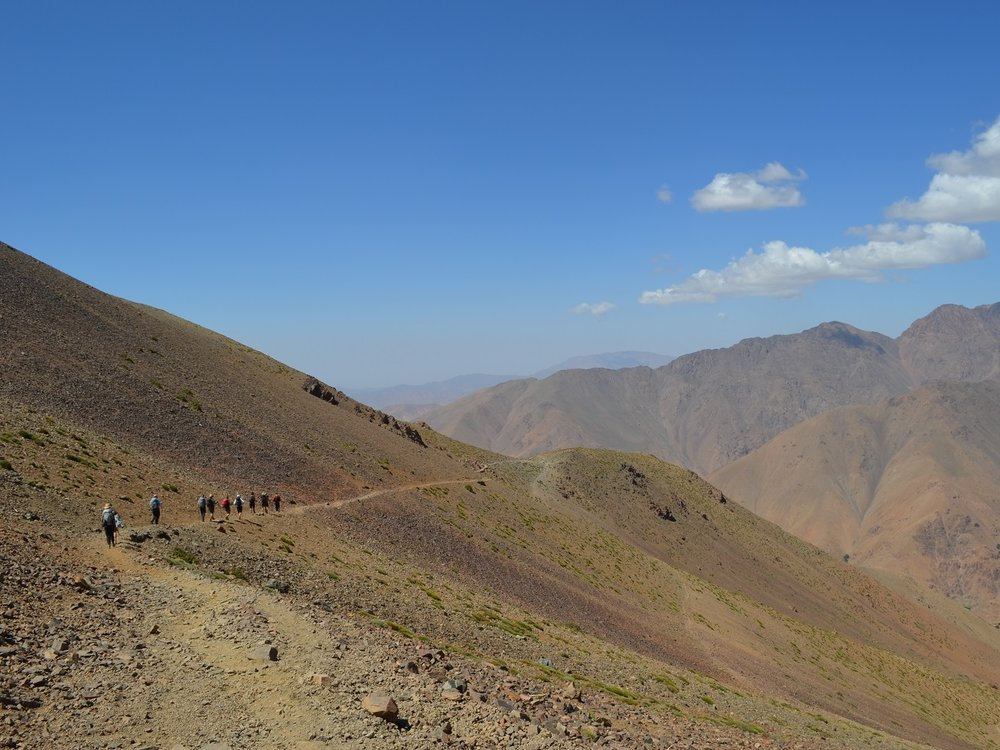 Morocco - The Atlas Mountains span 2500 km across northern Africa. The range's highest peaks however can be found in Morocco culminating in the highest of all, Jebal Toubkal at 4167m.