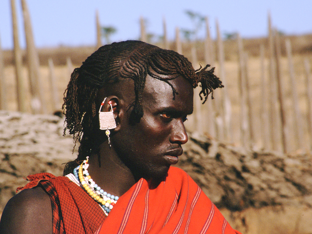 Maasai Wearing Traditional Shuka - Tanzania