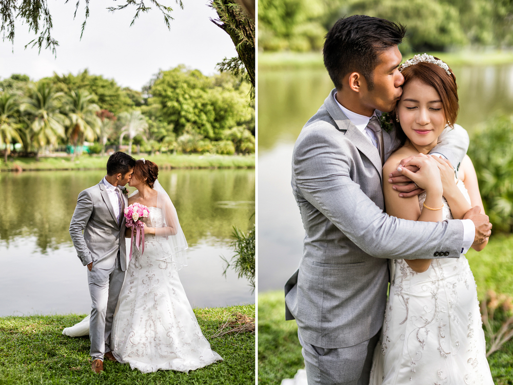 Wedding of Vernon and Shiqi. Image taken at Singapore Chinese Garden.