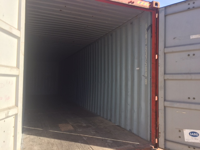 40' High Cube container Grade B, rough floor otherwise in great condition $2950.00