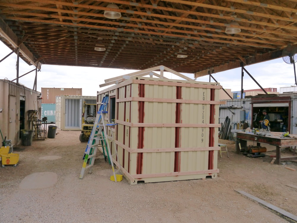 Park City Ski shack with roof going up.JPG
