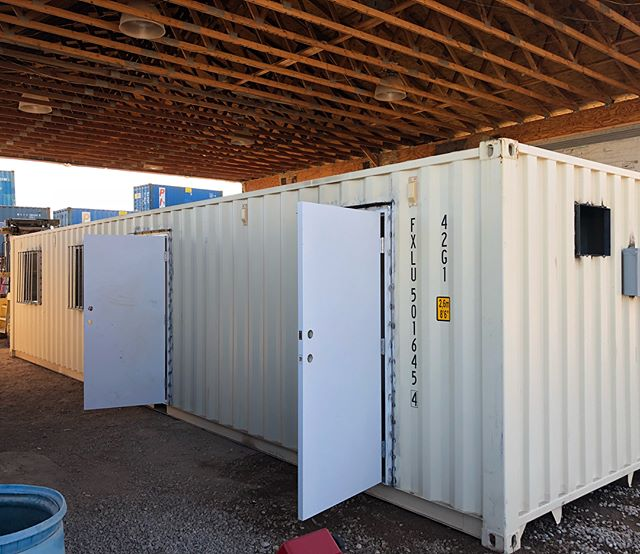 40 ft container.  Office/storage  #kustomcontainer #office #storage #storagebox #youdreamitwebuildit #containermodifications #containersalesandrentals #southernutah #storageunit #npsa