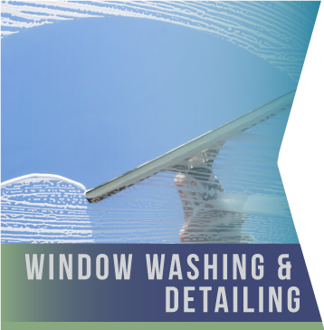 Window Washing & Detailing   Our window-cleaning division is a dedicated team which arrives ready to take on any glass surface, quickly and efficiently cleaning windows of all sizes and types, including glass doors, screens, sashes, sills, and tracks.
