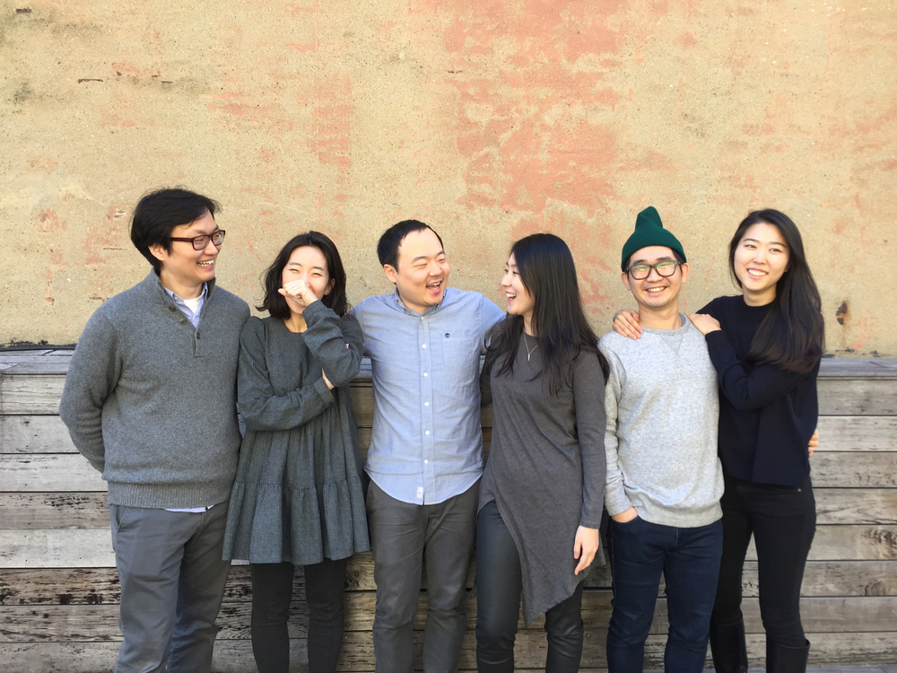 Founders: David, Joohyun, Sung Joo, Junie, Jihun, Su (left to right)