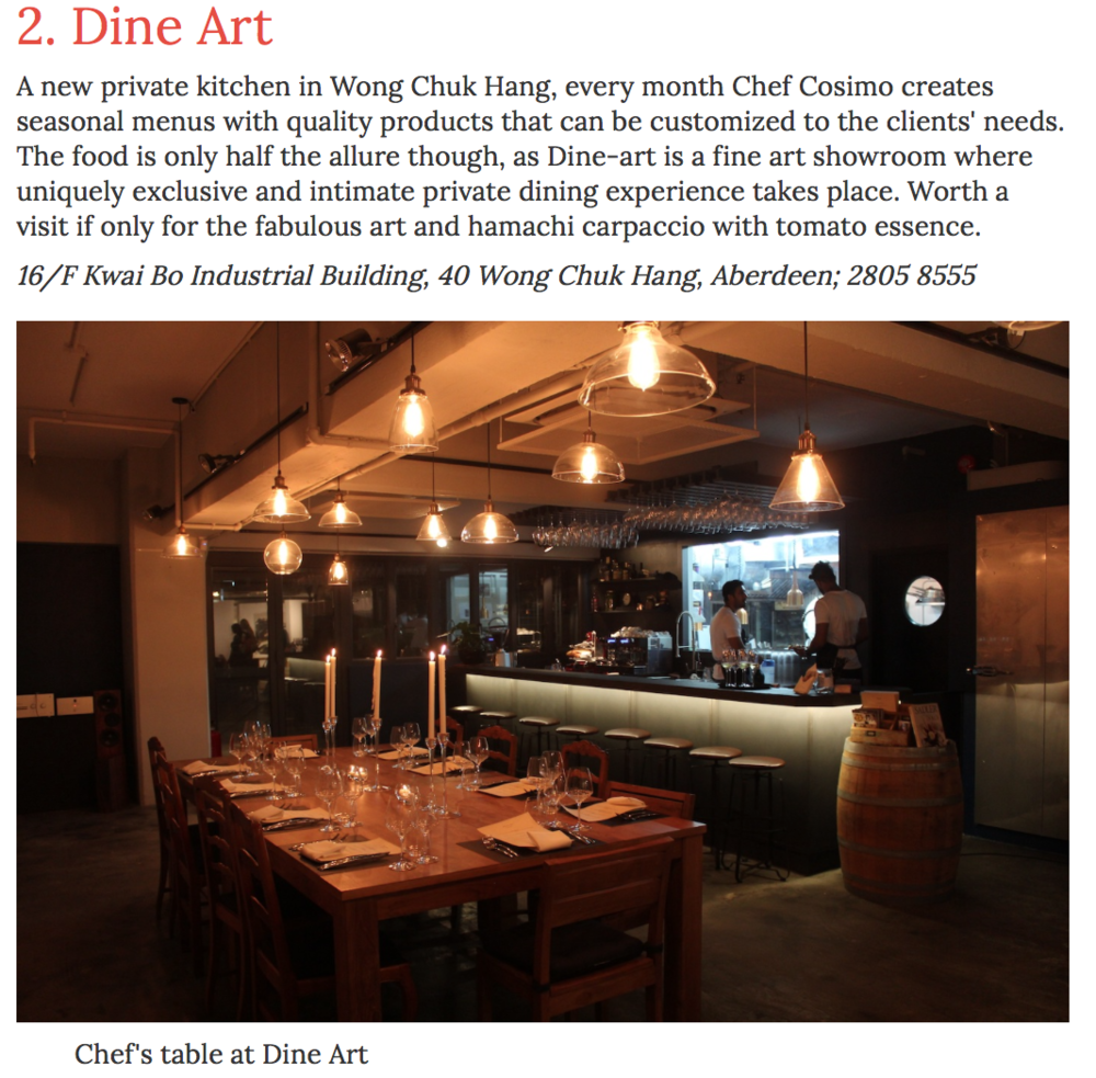 Foodie - Dine Art Private Kitchen Review